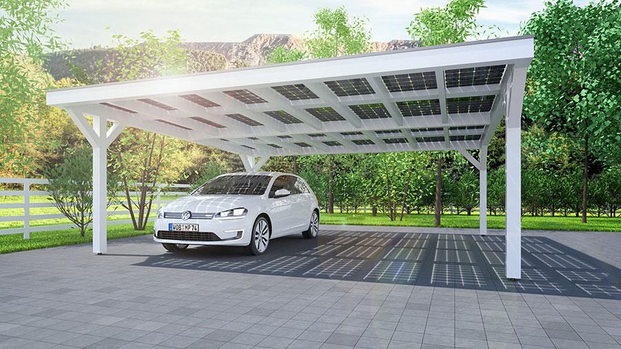 تنسيق حدائق الكويت  Solar-carport